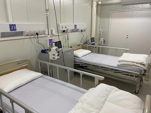 火神山医院病房内部。 澎湃新闻记者 廖艳 图