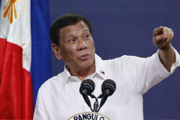 菲律宾总统杜特尔特(图:美联社)