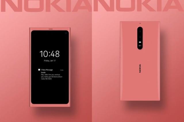 诺基亚N9 2020版5G新机曝光 粉色版采用后置竖排三摄