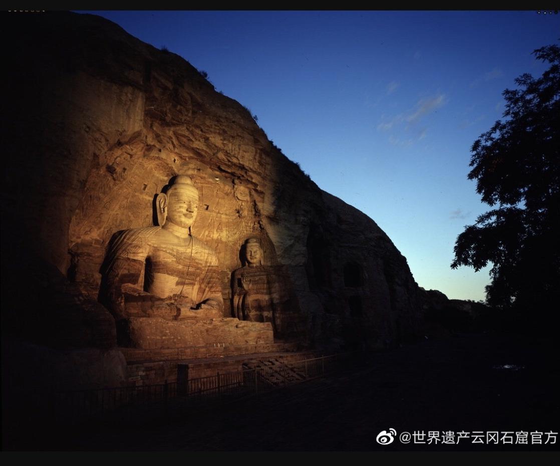 图片来源/世界遗产云冈石窟官方微博截图。