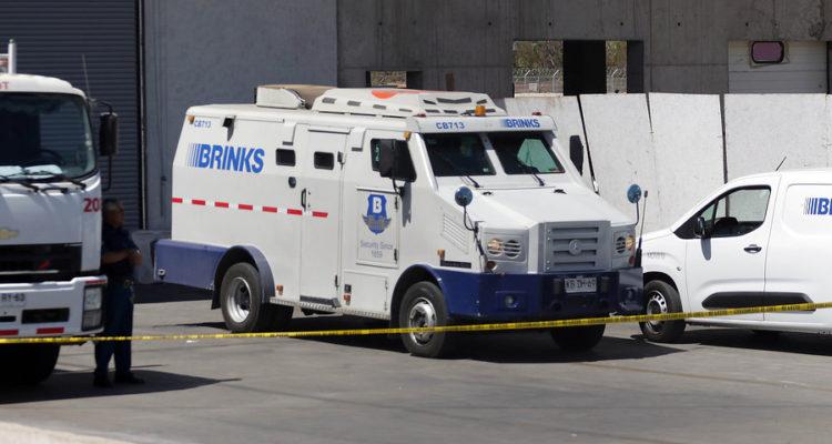 """遭抢劫的运钞车(智利""""Biobiochile""""网站)"""