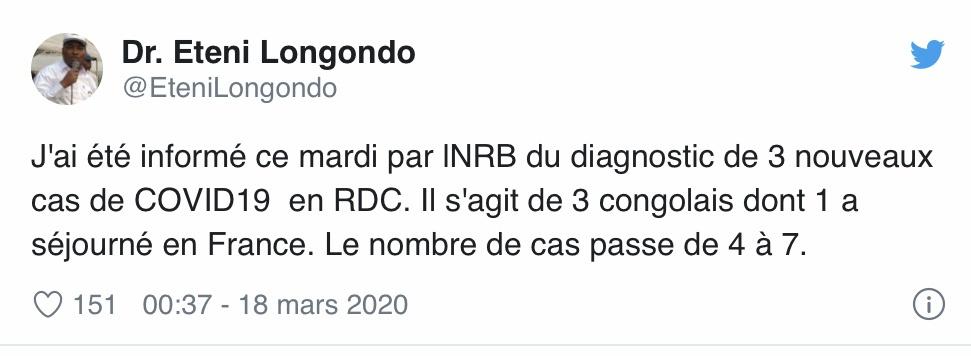 △图为刚果(金)卫生部长隆贡众在外交媒体上发布新闻