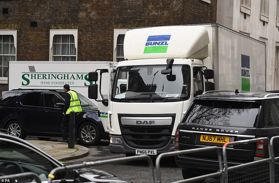 parked near 10 Downing Street (Image: Daily Mail)