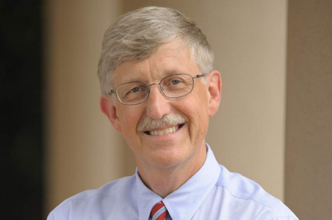 (△ Francis Collins, Dean of the National Institutes of Health)