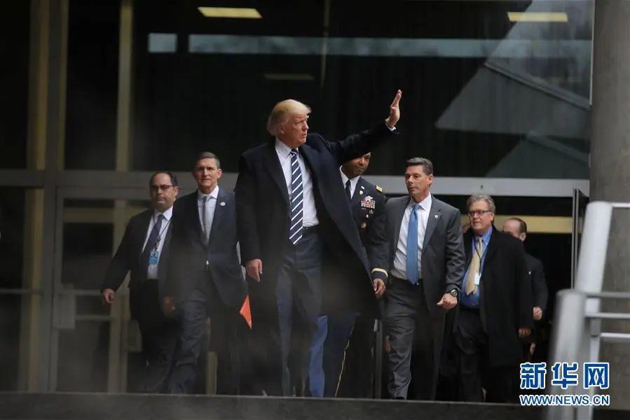 ▲资料图片:2017年1月21日,在美国弗吉尼亚州兰利,美国总统唐纳德·特朗普离开中央情报局。(新华社/路透社)