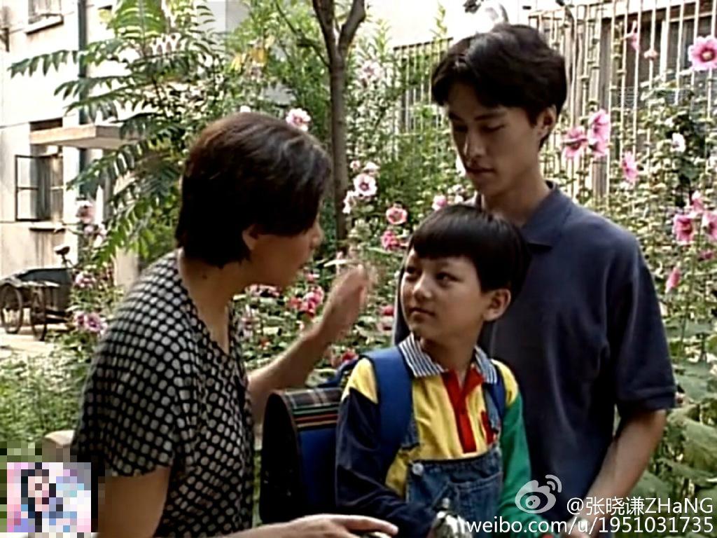 张晓谦幼时候和靳东
