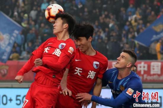 原料图:2019赛季中超联赛,天津天海艰难保级。 泱波 摄