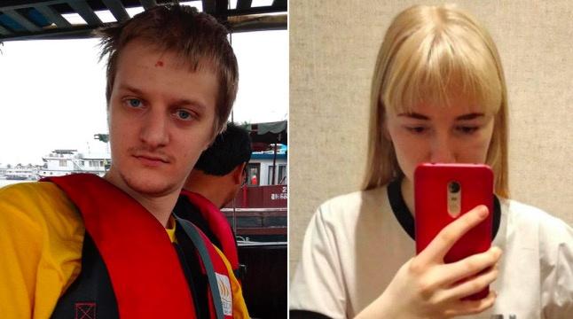 乌克兰国际棋手博格达诺维奇(左)(图源:俄PEH电视台)