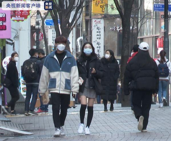 △疫情期间韩国街头民多