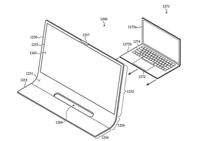 苹果申请Mac新专利 整块玻璃去处屏幕大黑边 配有一个键盘和两个触控板