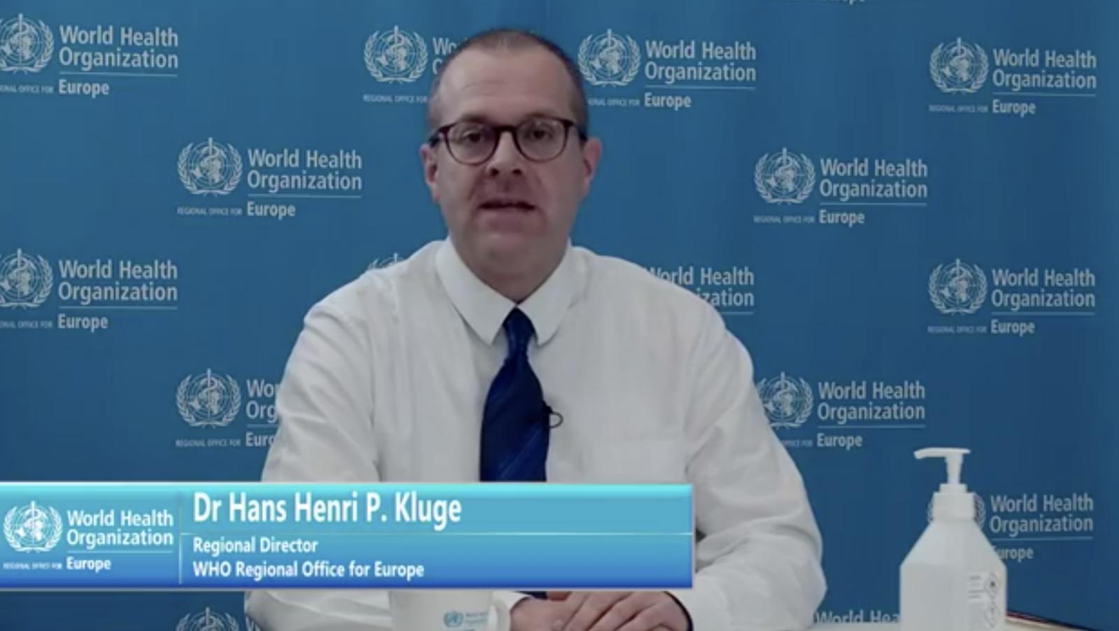 △图为世界卫生组织欧洲区域负责人汉斯·克鲁格