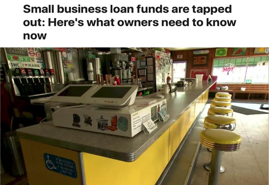 △CNN报道,无数小企业在焦急等待救助金