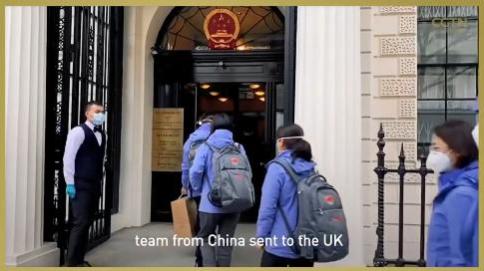 △CGTN报道山东赴英联合工作组抵达英国