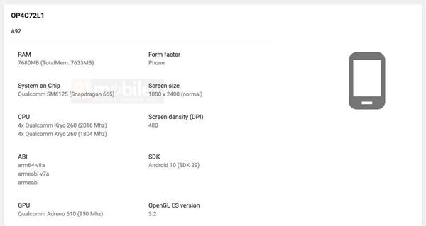 Google Play后台曝光了2款全新的OPPO新机,骁龙665处理器