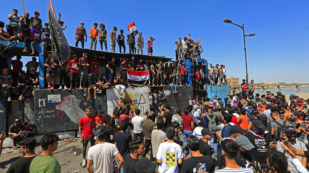 △伊拉克民多结构示威运动(图片来源:阿纳多卢通讯社)
