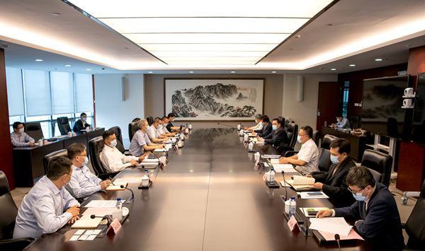 叶向东会见东方电气总经理、党组副书记俞培根