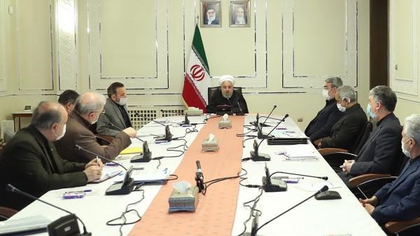 △鲁哈尼在会议中发表讲话 来源:伊朗当地媒体
