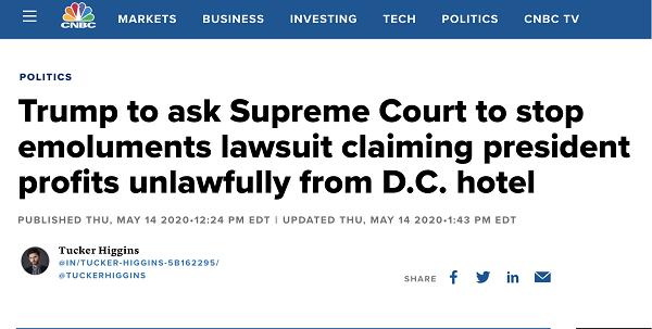 △CNBC讯息报道,特朗普的小我律师外示要将此案挑交至最高法院追求复审