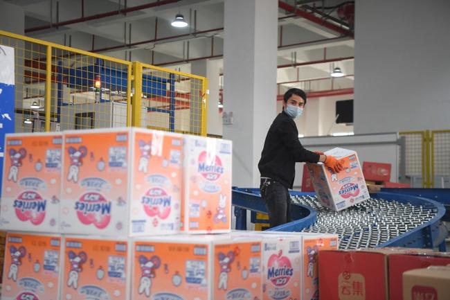▲今年2月29日,湖南的某跨境电商企业复工复产