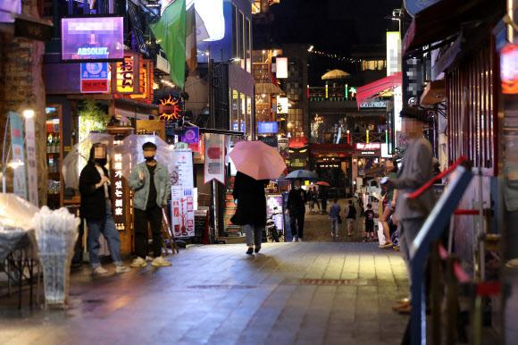 韩国首尔梨泰院地区(图:韩联社)