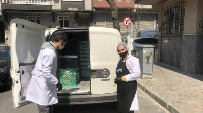 △疫情期間伊斯坦布爾市政府向民眾發放生活物資 來源:當地媒體