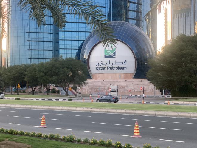△卡塔爾國家石油公司 記者自拍