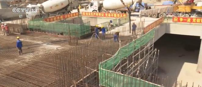杭州地铁萧山机场站主体施工完成