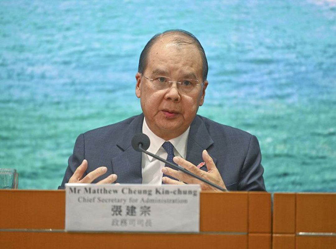 贏咖3,審涉國安法贏咖3案件香港政務司司長張圖片
