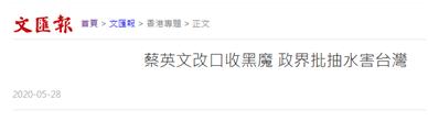 蔡英文改口接收暴徒 香港建制派讽刺:欢迎啊