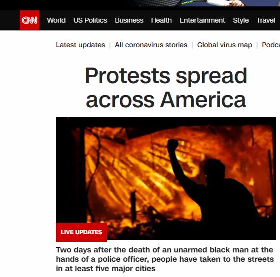 CNN头条:《抗议活动全美蔓延》