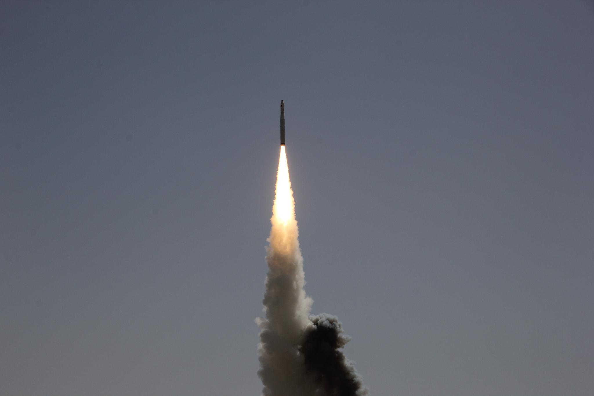 长征十一号遥四火箭发射