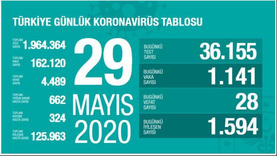 △土耳其29日疫情统计,来源:土耳其卫生部