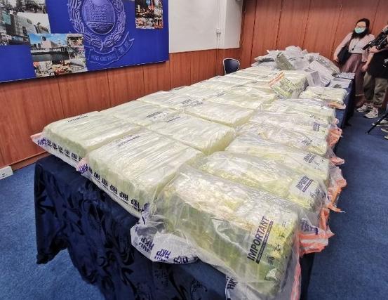 警方破获香港29年来最大宗冰毒案(东网)