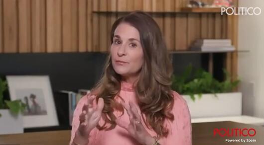 梅琳达接受采访视频截图