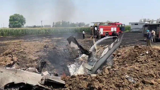印度空军一架米格29战斗机坠毁飞行员跳伞生还(图)
