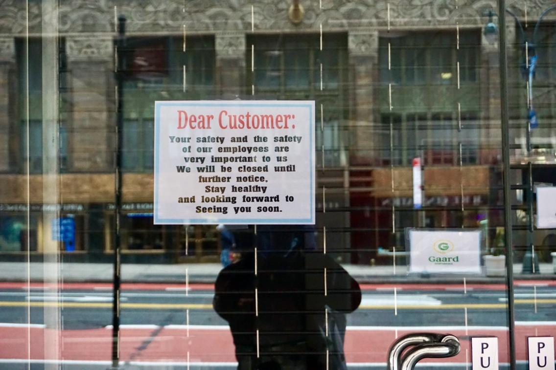 △在纽约,店铺起码在5月15日前无法盛开