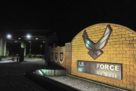 资料图:美国位于德国拉姆施泰因的空军基地。(图源:法新社)