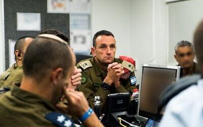 △以色列国防军南部司令部司令赫兹·哈尔维将军