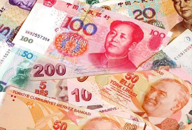 △土耳其里拉和中国人民币 图片来自网络