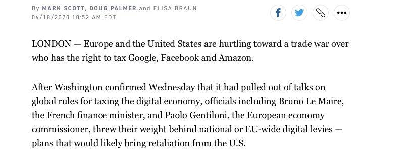 美国消费者新闻与商业频道报道截图