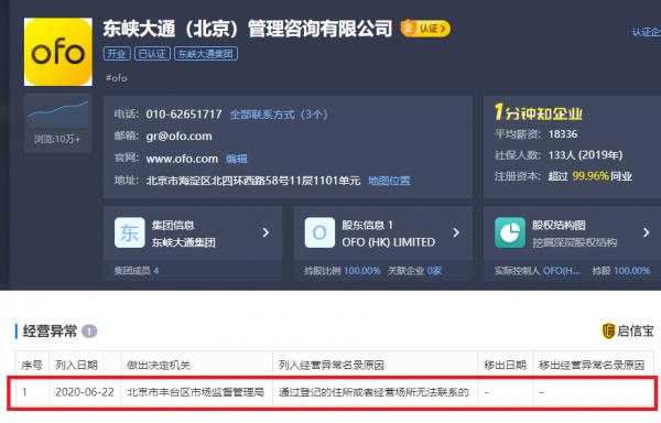 东峡大通(北京)管理咨询有限公司被列入经营异常名录