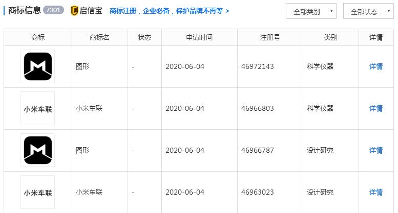 """小米""""造车""""事件闹乌龙 但已申请注册小米车联商标"""