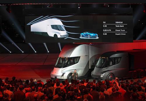 特斯拉电动卡车Semi参与运输Model 3