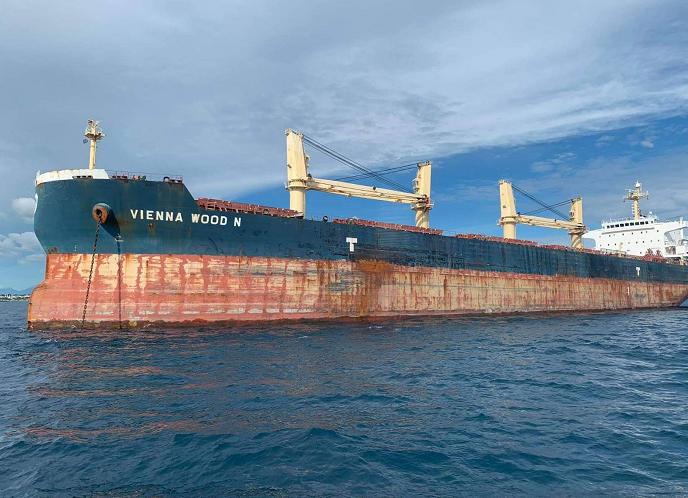 △图为涉事香港货轮图来自菲律宾海岸警卫队