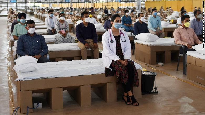 Sardar Patel新冠肺热护理中央可原谅1万张床位图据CNN