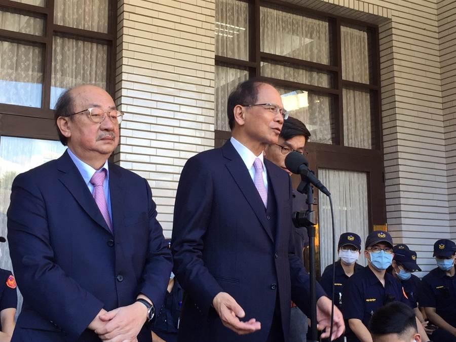游锡堃向国民党喊话 图自台媒