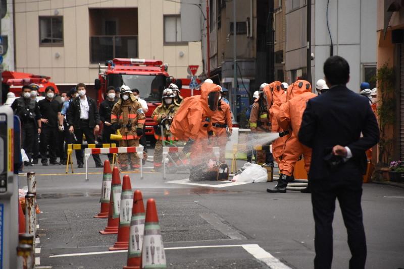 东京街头惊现剧毒液体 可致足部坏死