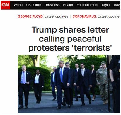 """""""和平抗议者""""成了""""恐怖分子""""?"""