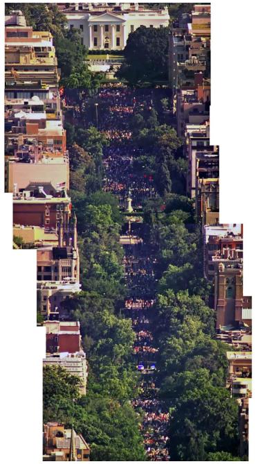 △《纽约时报》根据华盛顿NBC4电视台航拍镜头合成的图片