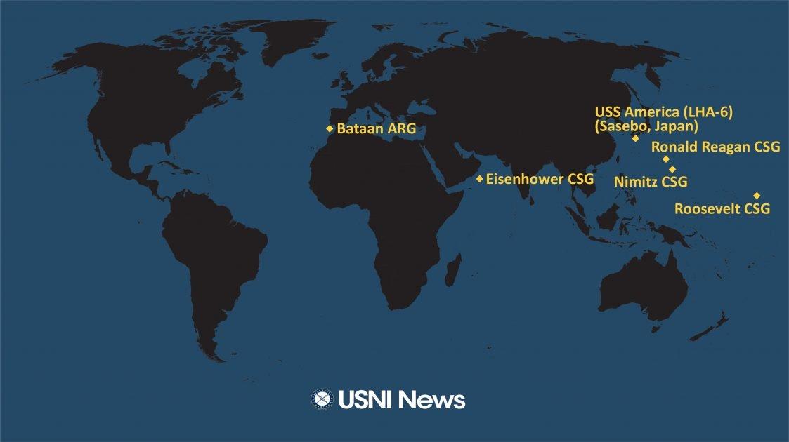 美国海军一周内两次在西太举行双航母军演